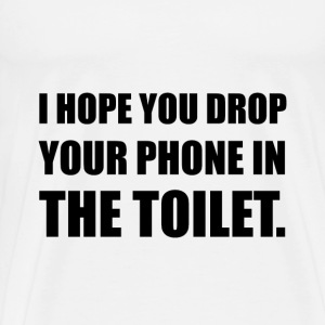 Phone Falls In Toilet - Men's Premium T-Shirt