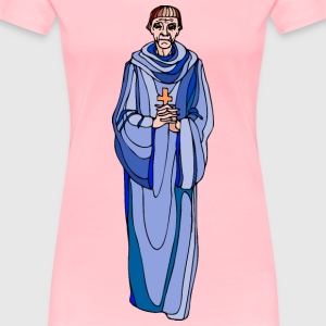 Shakespeare characters priest (colour) - Women's Premium T-Shirt