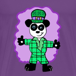 Irish Panda Character - Men's Premium T-Shirt