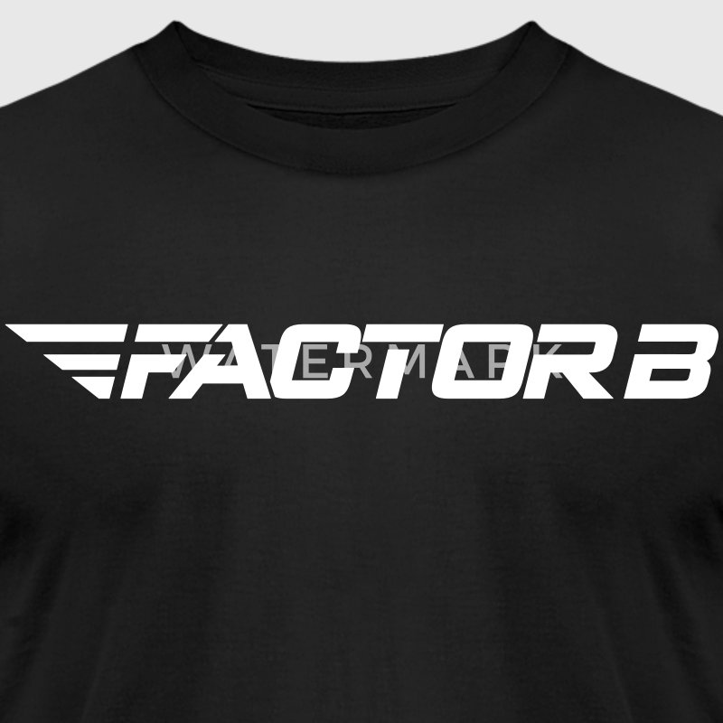 Factor B Word Black - Men's T-Shirt by American Apparel