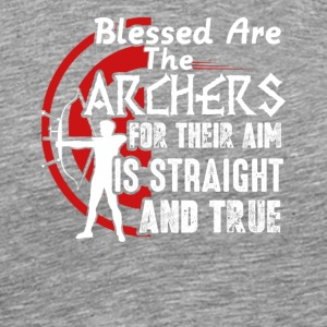 Blessed Are The Archer Tee Shirt - Men's Premium T-Shirt