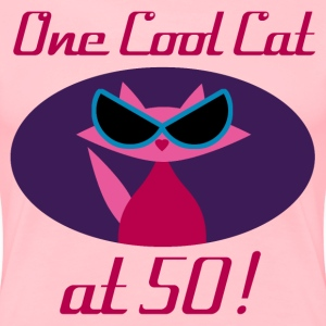 Cool Cat 50th Birthday - Women's Premium T-Shirt