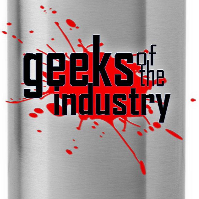 Geeks of the Industry Blood Splatter logo Water Bottle
