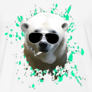 Polar Bear T-Shirts - Fitted Cotton/Poly T-Shirt by Next Level
