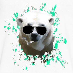 Polar Bear T-Shirts - Men's V-Neck T-Shirt by Canvas