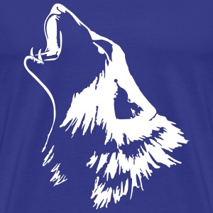 howing wolf to paint T-Shirts - Men's Premium T-Shirt