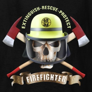 firefighter_skull_092016_c Kids' Shirts - Kids' T-Shirt