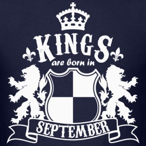 Kings are born in September - Men's T-Shirt
