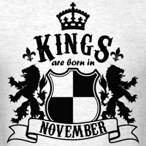 Kings are born in November - Men's T-Shirt