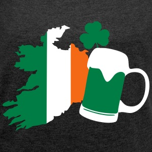St Patricks Day, Irish Beer, Clover T-Shirts - Women´s Roll Cuff T-Shirt