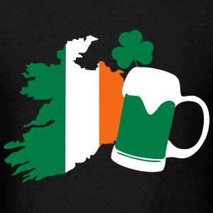 St Patricks Day, Irish Beer, Clover T-Shirts - Men's T-Shirt