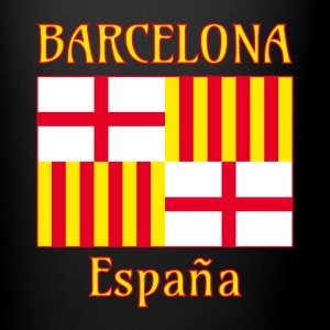 Barcelona flag in red white and yellow Mugs & Drinkware - Full Color Mug