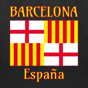 Barcelona flag in red white and yellow Bags & backpacks - Tote Bag