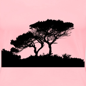 High Detail Landscape Silhouette - Women's Premium T-Shirt