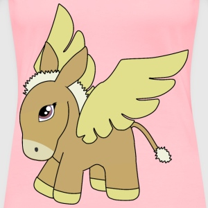 Brown and gold donkey pegasus - Women's Premium T-Shirt