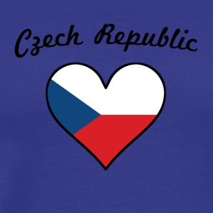 Czech Republic Flag Heart - Men's Premium T-Shirt