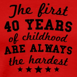 40 Years Of Childhood 40th Birthday - Men's Premium T-Shirt