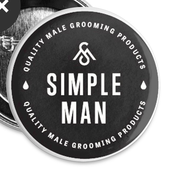 Simple Man Seal Button