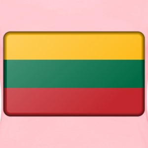 Flag of Lithuania (bevelled) - Women's Premium T-Shirt