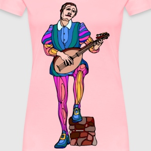 Shakespeare characters musician 2 (colour) - Women's Premium T-Shirt