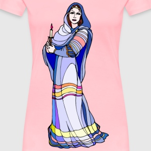 Shakespeare characters Lady Macbeth (colour) - Women's Premium T-Shirt