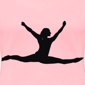 Female Performer Silhouette Minus Cloth - Women's Premium T-Shirt