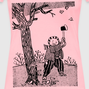 Cutting Down a Tree - Women's Premium T-Shirt