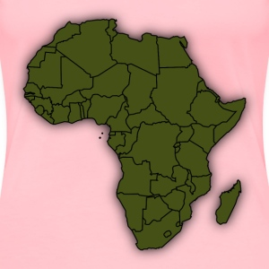 Basic Africa Map - Women's Premium T-Shirt