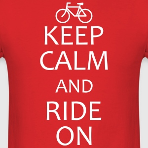 keep calm and ride on bike shirt - Men's T-Shirt