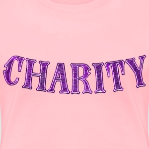 Noble characteristic typography charity - Women's Premium T-Shirt