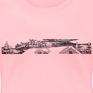 Santa Above Roof - Women's Premium T-Shirt