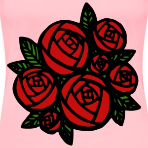 Bunch of Red Roses - Women's Premium T-Shirt