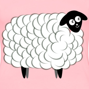 Fluffy Sheep, two color - Women's Premium T-Shirt