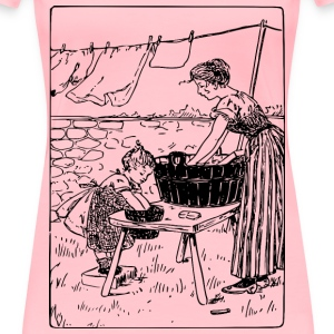 Mother and Daughter do Laundry - Women's Premium T-Shirt
