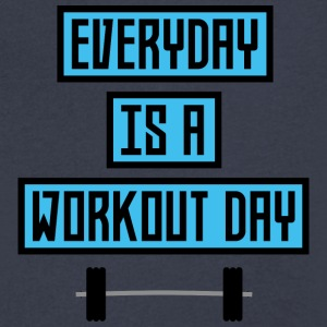 Everyday Workout Day U852m T-Shirts - Men's V-Neck T-Shirt by Canvas