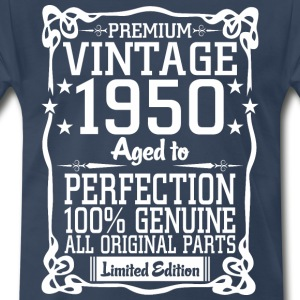Premium Vintage 1950 Aged To Perfection 100% Genui T-Shirts - Men's Premium T-Shirt