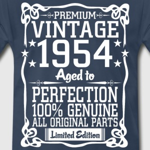 Premium Vintage 1954 Aged To Perfection 100% Genui T-Shirts - Men's Premium T-Shirt