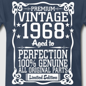 Premium Vintage 1968 Aged To Perfection 100% Genui T-Shirts - Men's Premium T-Shirt