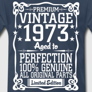 Premium Vintage 1973 Aged To Perfection 100% Genui T-Shirts - Men's Premium T-Shirt