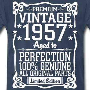 Premium Vintage 1957 Aged To Perfection 100% Genui T-Shirts - Men's Premium T-Shirt