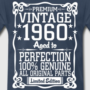 Premium Vintage 1960 Aged To Perfection 100% Genui T-Shirts - Men's Premium T-Shirt