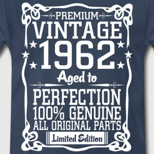 Premium Vintage 1962 Aged To Perfection 100% Genui T-Shirts - Men's Premium T-Shirt