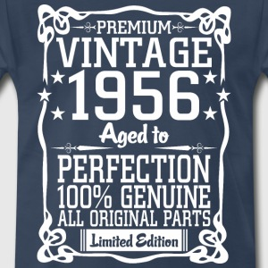 Premium Vintage 1956 Aged To Perfection 100% Genui T-Shirts - Men's Premium T-Shirt