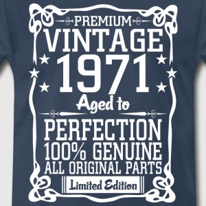 Premium Vintage 1971 Aged To Perfection 100% Genui T-Shirts - Men's Premium T-Shirt