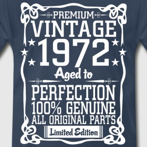 Premium Vintage 1972 Aged To Perfection 100% Genui T-Shirts - Men's Premium T-Shirt