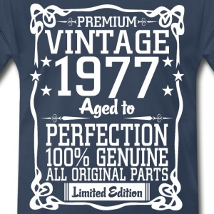 Premium Vintage 1977 Aged To Perfection 100% Genui T-Shirts - Men's Premium T-Shirt
