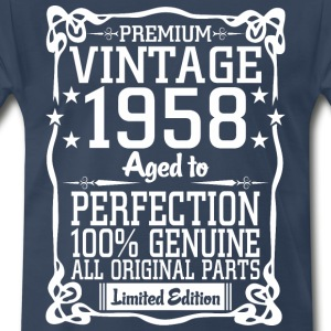 Premium Vintage 1958 Aged To Perfection 100% Genui T-Shirts - Men's Premium T-Shirt