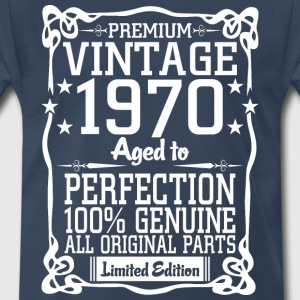 Premium Vintage 1970 Aged To Perfection 100% Genui T-Shirts - Men's Premium T-Shirt