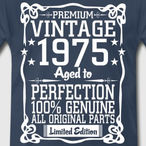 Premium Vintage 1975 Aged To Perfection 100% Genui T-Shirts - Men's Premium T-Shirt