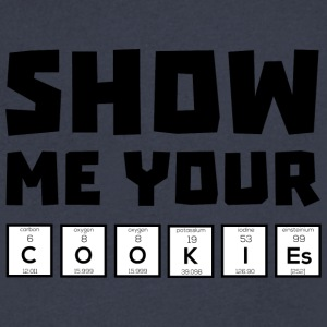 Show me your cookies nerd Uh454 T-Shirts - Men's V-Neck T-Shirt by Canvas